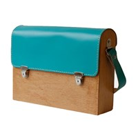 Grav Grav Colorful Wooden Satchel Bag Mint Green
