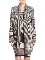 Missoni Relaxed Striped Cardigan Black White Multi