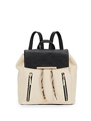 Kensie Colorblock Faux Leather Back Sesame