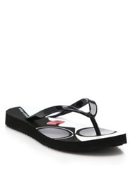 Alice Olivia Stacey Face Rubber Thong Sandals