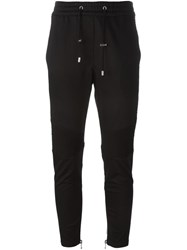 Balmain Ribbed Panel Track Pants Black