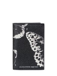 Alexander Mcqueen Butterfly Printed Leather Card Holder