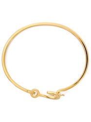 Miansai Mini Fish Hook Bangle Yellow And Orange