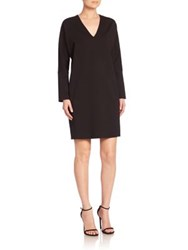 Josie Natori Dropped Shoulder Shift Dress Black