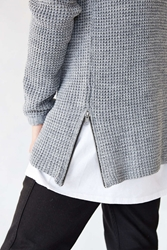 The Narrows Side Zip Waffle Sweater