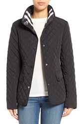 Women's Gallery Plaid Trim Quilted Barn Jacket