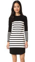 Rebecca Minkoff Scottie Striped Sweater Dress Black White Stripe
