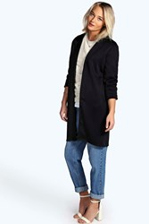 Boohoo Duster Coat Black