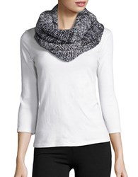 Collection 18 Marled Knit Loop Scarf Charcoal Grey