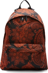 Givenchy Red And Black Paisley Print Backpack