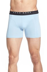 Men's Boss 'Cyclist' Stretch Cotton Trunks Open Blue Black