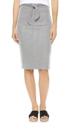 Club Monaco Indya Stripped Knit Skirt Blue Stripe