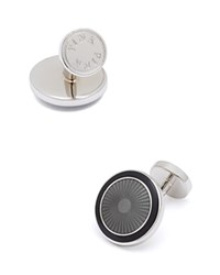 Thomas Pink Circle Wheel Cufflinks Grey Black