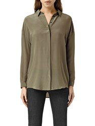 Allsaints Avalon Shirt Light Khaki Green
