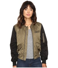Members Only Diamond Quilted Bomber Jacket Olive Women's Coat