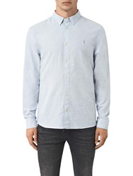 Allsaints Millard Slim Fit Long Sleeve Shirt Light Blue