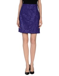 Versace Collection Skirts Knee Length Skirts Women Purple