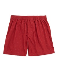 Kenneth Cole Pin Dot Cotton Boxer Shorts Red Velvet