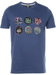 Paul Smith Ps By Multi Print T Shirt Blue