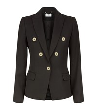 Reiss Matilda Button Detail Jacket Female Black