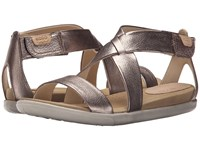 Ecco Damara Strap Sandal Warm Grey Metallic Women's Shoes Bronze