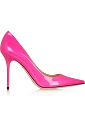 Jimmy Choo Abel Neon Patent Leather Pumps