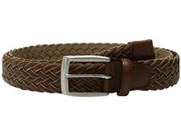 Torino Leather Co. 35Mm Italian Braided Rayon With Calf Inlay Tan Cognac Men's Belts