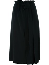 No21 Pleated Midi Skirt Black