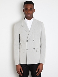 Jil Sander Men's Tilda Deconstructed Jacket In Greystripe At Oki Ni