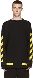 Off White Black And Yellow Arrows Pullover