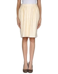 Tomaso Knee Length Skirts Ivory