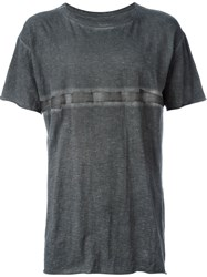 Isaac Sellam Experience Taped T Shirt Grey