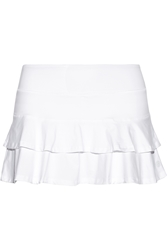 Lija Score Match Tiered Stretch Jersey Tennis Skirt