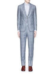 Isaia 'Gregory' Wool Houndstooth Suit Grey
