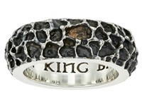 King Baby Studio Lava Rock Textured Band Ring Silver