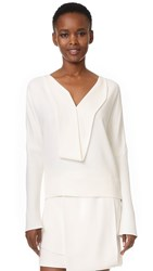 Narciso Rodriguez Long Sleeve Top White