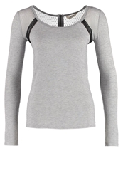 Naf Naf Origami Long Sleeved Top Grey Melange Mottled Grey