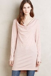Anthropologie Cowled Jersey Tunic Pink