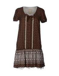 Atelier Fixdesign Short Dresses Brown
