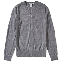 Comme Des Garcons Shirt V Neck Zip Cardigan Grey
