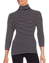 Highline Collective Ribbed Knit Turtleneck Black White