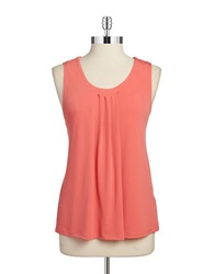 Anne Klein Pleated Tank Coral