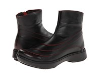 Naot Footwear Tellin Volcanic Red Leather Women's Zip Boots Black