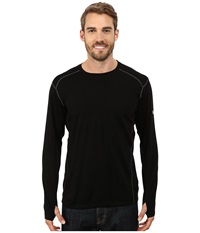 Kuhl Skar Crew Shirt Black Men's Long Sleeve Button Up