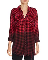 Signorelli Plaid Ombre Shirt Red Black Charcoal