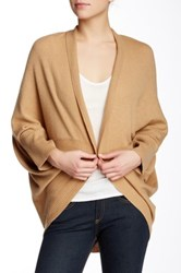 Magaschoni Long Sleeves Cashmere Cocoon Cardigan Beige