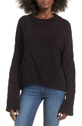 J.O.A. Women's J.O.A Cable Knit Sweater