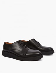 Maison Martin Margiela Black Leather Crepe Sole Shoes