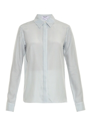 Frame Denim Le Classic Striped Silk Shirt