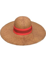 Tomas Maier Wide Brim Sun Hat Nude And Neutrals